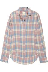 MiH Jeans Plaid Brushed-cotton Shirt - Lyst