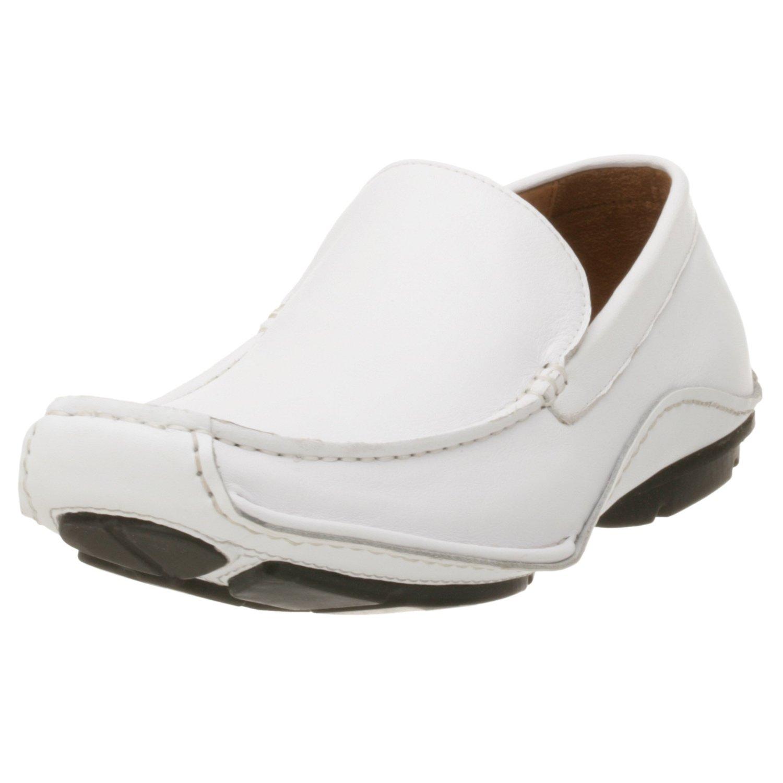 steve madden mens novo driving shoe in white for lyst