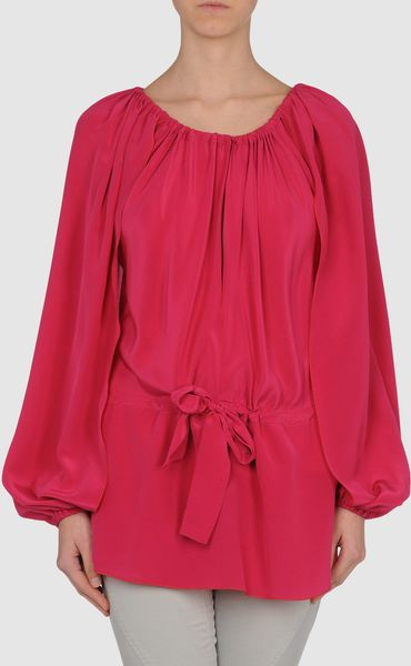 Vionnet Blouse in Red (fuchsia) - Lyst