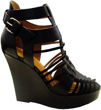 Givenchy Strappy Platform Wedge Sandals - Lyst