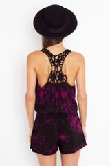 Nasty Gal To Dye For Romper - Lyst