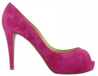 Christian Louboutin 100mm Very Prive Suede Open Toe Pumps - Lyst