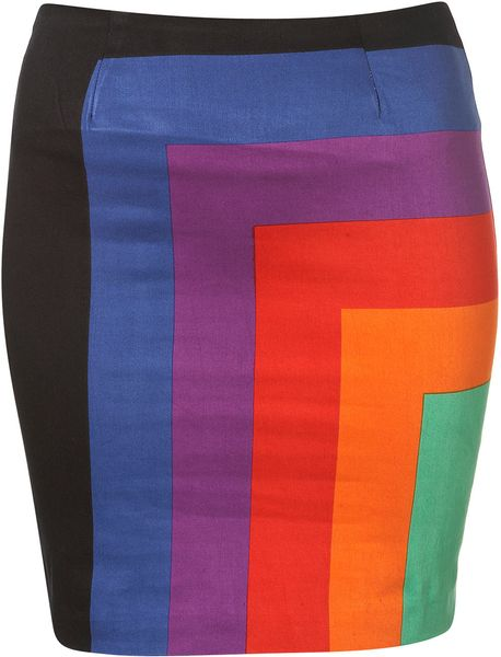 Topshop Becka Skirt By Motel** in Multicolor (multi) - Lyst
