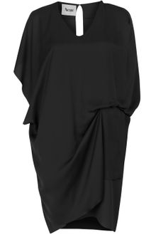 Acne Black Mallory Draped Sleeveless Dress - Lyst