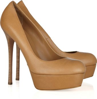 Alexander McQueen Textured-Leather Pumps - Lyst