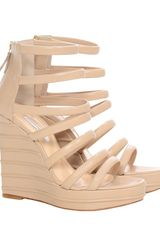 Bionda Castana Multi Strap Leather Wedge - Lyst
