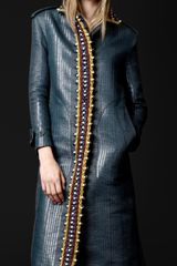 Burberry Prorsum Chunky Crochet Trench Coat