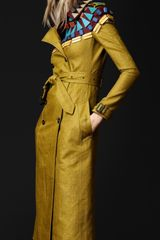 Burberry Prorsum Geometric Beaded Trench Coat