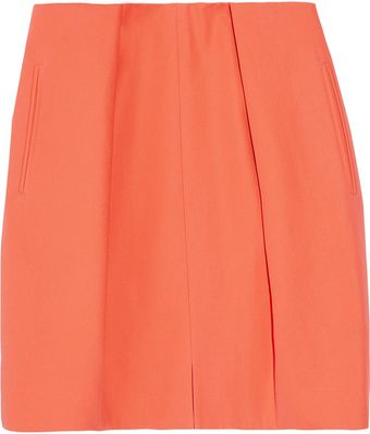 Carven Pleated Cotton-Canvas Mini Skirt - Lyst