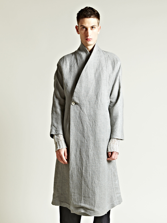Damir doma Mens Kimono Sleeve Coat in Gray for Men | Lyst