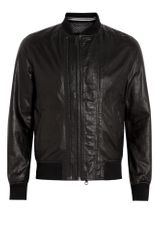 D&g Black Double Zip Front Leather Jacket in Black for Men - Lyst