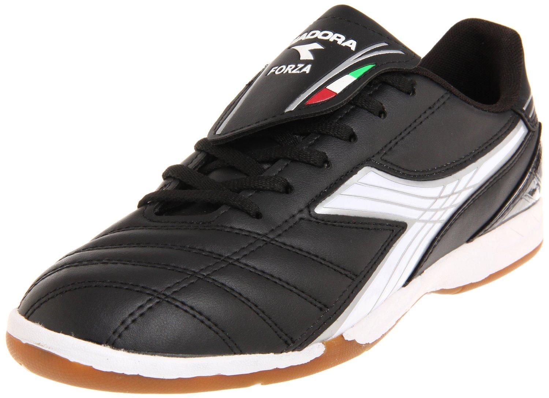 diadora mens forza id soccer shoe in black for black