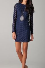 Diane Von Furstenberg Honoka Dress in Blue (navy) - Lyst