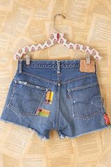 Free People Vintage Patchwork Levis Shorts in Blue (denim) - Lyst