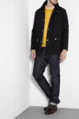 A.p.c. Mustard Fine Merino Crew Knit in Yellow for Men (mustard) - Lyst