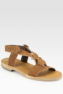 Maison Martin Margiela Leather Slingback Sandals - Lyst