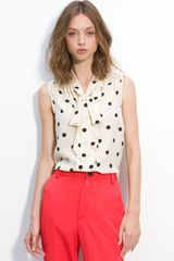 Marc By Marc Jacobs Hot Dot Silk Top in Multicolor (parsnip multi) - Lyst
