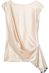 Matthew Williamson Draped Silk-satin Top