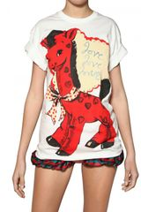 Meadham Kirchhoff Love Printed Cotton Jersey T-shirt - Lyst