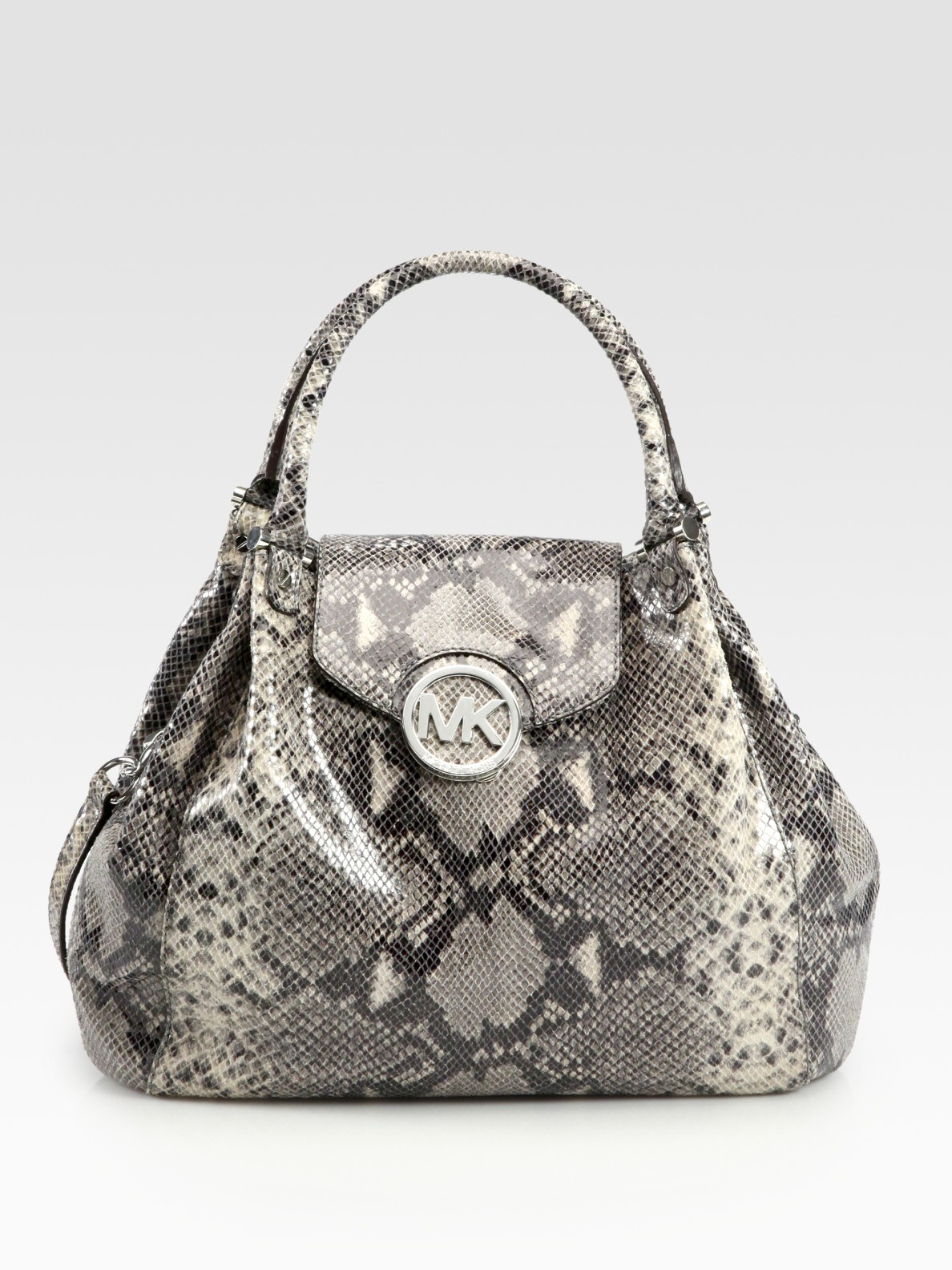 711caa40542a Lyst - MICHAEL Michael Kors Fulton Snake-embossed Leather Tote Bag ...