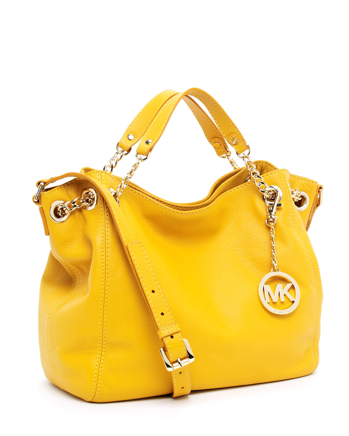 c6218776b052 Michael Kors Jet Set Chain Medium Gather Shoulder Tote in Yellow - Lyst