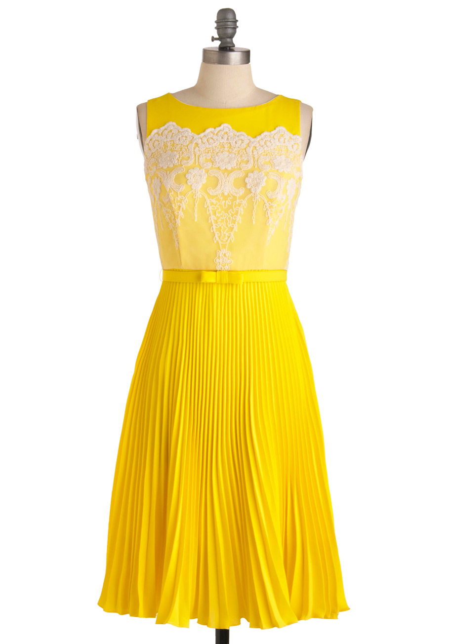 Modcloth Lemon Amour Dress in Yellow (lemon) | Lyst