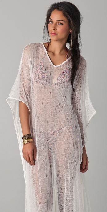 c39c0aa57587 Lyst - OndadeMar Riviera Mesh Cover Up Dress in White