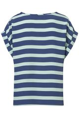 Topshop Stripe Tee in Blue (multi) - Lyst