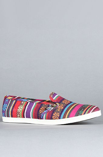 Vans The Slip On Lo Pro Sneaker in Red Guate Stripe - Lyst