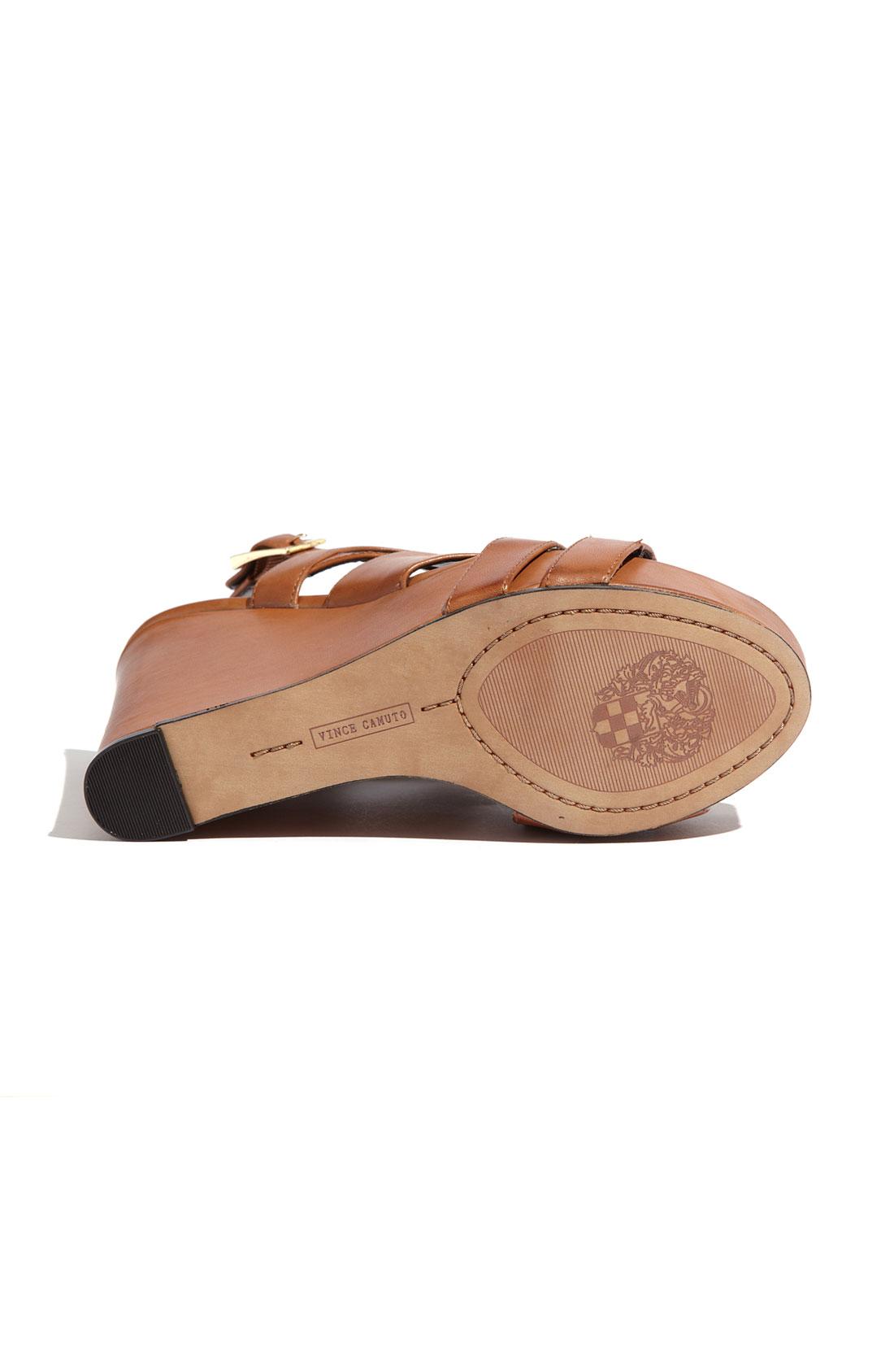 Vince Camuto Shivona Wedge Sandals In Brown Fudge Lyst