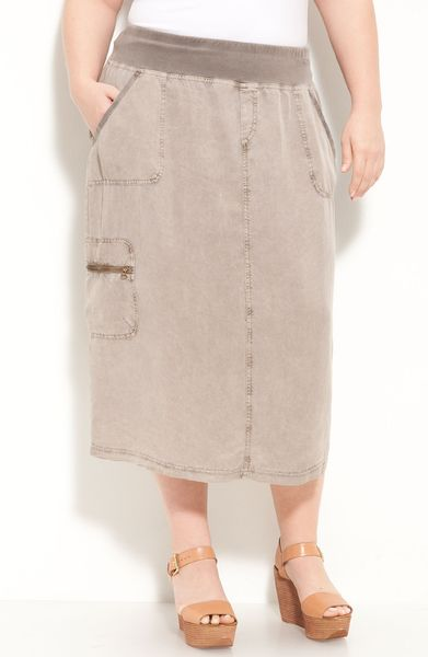 Xcvi Wearables Playa Skirt in Gray (myrrh) - Lyst