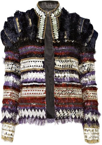 Balmain Embellished Wool-blend Jacket - Lyst