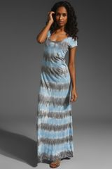 C&c California Dip Dye T-shirt Maxi Dress - Lyst
