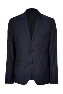 D&G Navy Pinstripe Two-button Blazer - Lyst