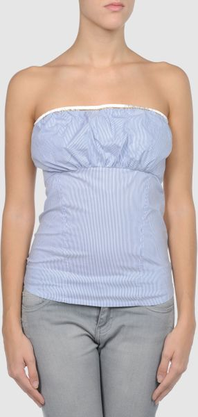 Elisabetta Franchi For Celyn B. - Tube Top in Blue (lilac) - Lyst
