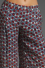 Elizabeth And James Mod Evelyn Trouser in Red and Navy in Multicolor (red & navy) - Lyst