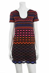 M Missoni Diamond Stripe Dress - Lyst