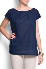 Mango Relaxed Fit Cotton Top - Lyst