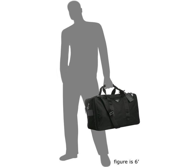 Prada Black Nylon Large Travel 74