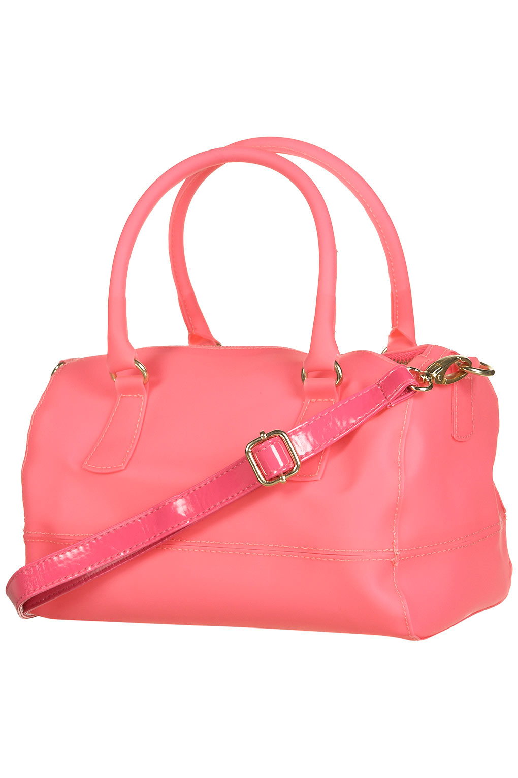 Lyst - Topshop Frosted Plastic Holdall in Pink 142d6cd9271f8