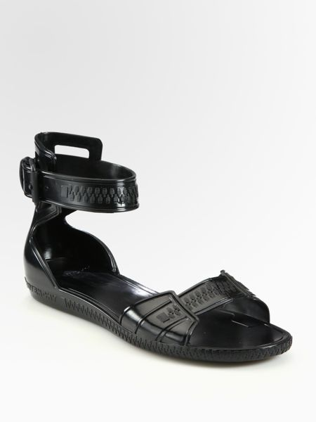 givenchy flat jelly sandals in black lyst
