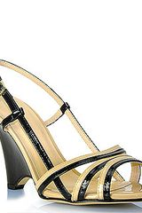 Kate Spade Patent Leather Split Wedge Sandal - Lyst
