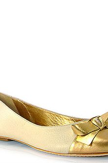 Kate Spade Tabby - Ivory Leather Two Tone Ballet Flat - Lyst