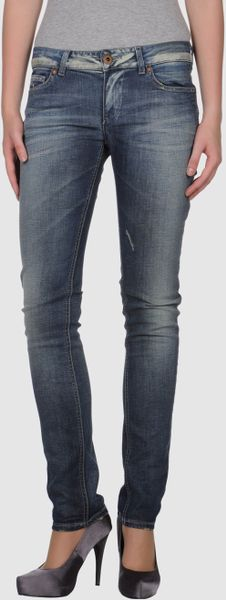 Laltramoda Denim Trousers in Blue - Lyst
