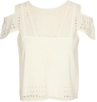Yasmin Kianfar Laser Cut Power-mesh Top - Lyst