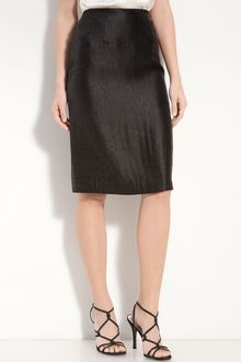 Adrianna Papell Metallic Pencil Skirt - Lyst