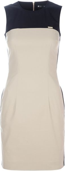 Dsquared2 Colour Block Dress in Black (beige) - Lyst