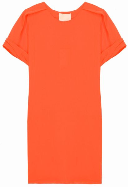 3.1 Phillip Lim Cdc Aline Tee Dress in Orange - Lyst