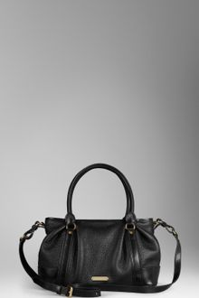 Burberry Medium Leather Bowling Bag - Lyst