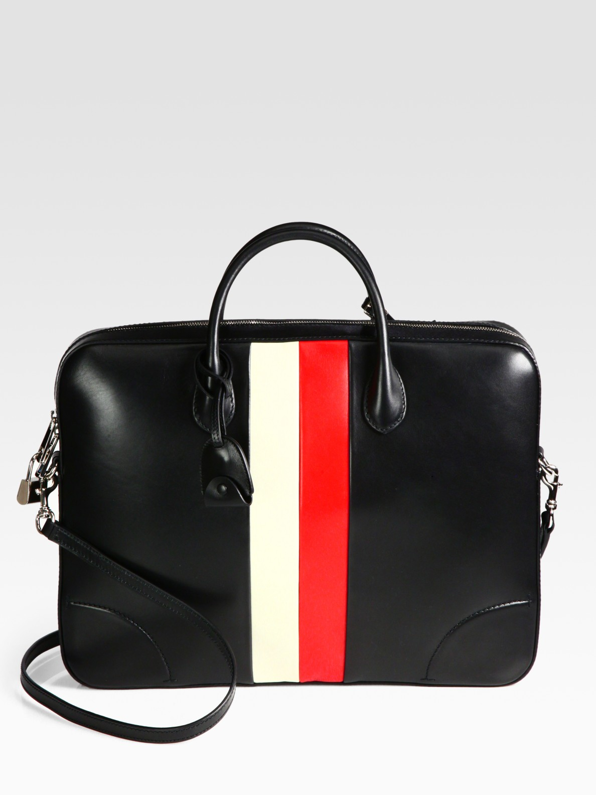 514a5a7f18c6 Gucci Leather Briefcase in Black for Men - Lyst